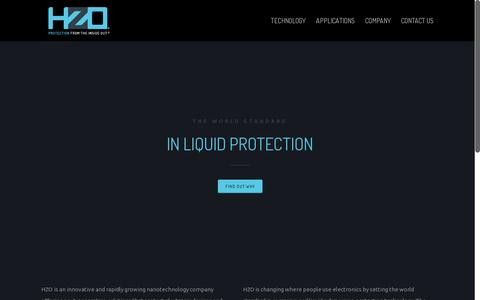 Screenshot of Home Page hzo.com - HZO | Liquid Protection Technology | Nanocoating Technology - captured July 11, 2014