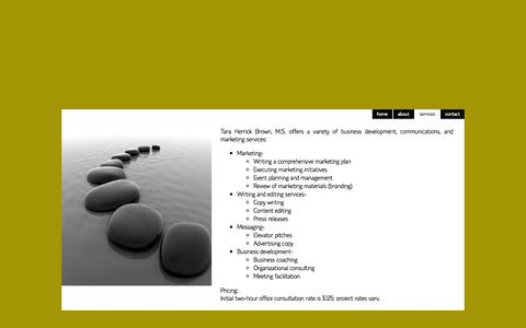 Screenshot of Services Page inur.com - inur consulting - services - captured Oct. 3, 2014