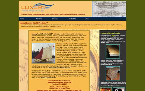 Screenshot of About Page luxuryyp.com - About Luxury Yacht Products LLC - captured Oct. 3, 2014