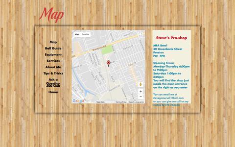 Screenshot of Maps & Directions Page stevesproshop.co.uk - Steve's Pro Shop - captured Nov. 11, 2017