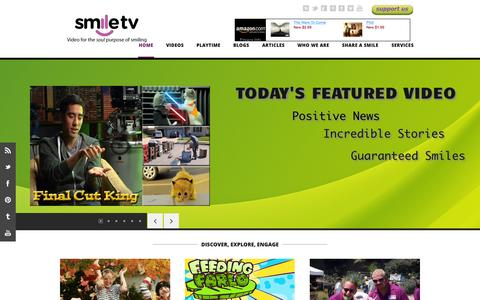 Screenshot of Home Page smiletvgroup.com - Smile TV - Video for the soul purpose of smiling - captured Sept. 20, 2015