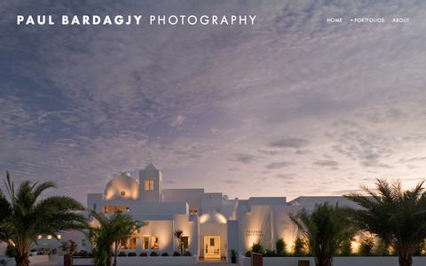 Screenshot of Home Page bardagjyphoto.com - Paul Bardagjy Photography - captured Nov. 22, 2018