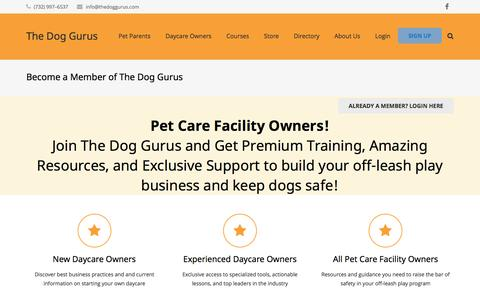 Screenshot of Signup Page thedoggurus.com - Become a Member of The Dog Gurus - The Dog Gurus - captured Jan. 8, 2017