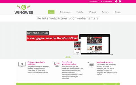Screenshot of Home Page wingweb.nl - Welkom | Wingweb - dé internetpartner voor ondernemers - captured Sept. 21, 2018