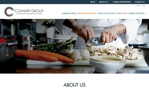 Screenshot of About Page culinartgroup.com - About CulinArt Group | High Quality Dining Services Management - captured Sept. 17, 2017