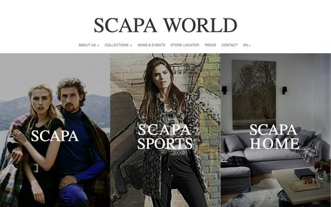 Screenshot of Home Page scapahome.eu - Scapa World - captured Oct. 4, 2014