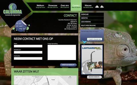 Screenshot of Contact Page calumma.nl - Contact - Reclame Ermelo - Calumma - captured Sept. 26, 2018