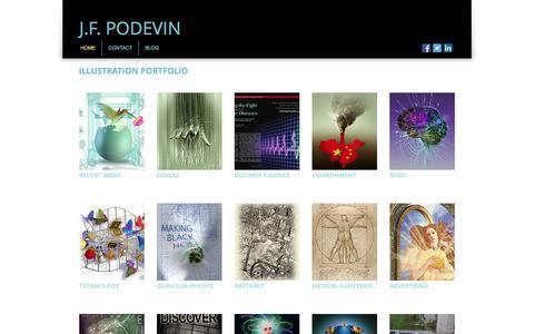Screenshot of Home Page podevin.com - J.F.Podevin Editorial Illustration Portfolio - captured Oct. 22, 2017