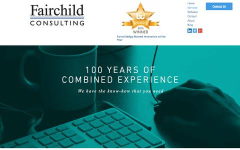 Screenshot of Services Page fairchildconsult.com - Fairchild Consulting Services - captured Nov. 24, 2016