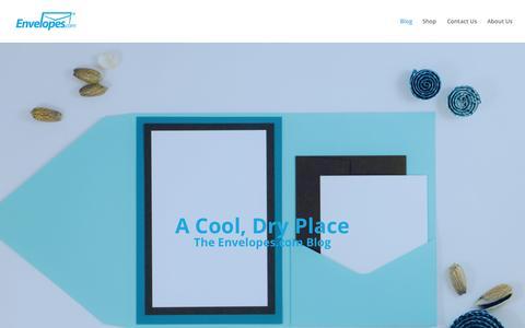 Screenshot of Blog envelopes.com - Envelopes.com Blog - A Cool, Dry Place - captured Oct. 1, 2015