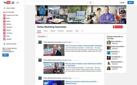 Screenshot of YouTube Page youtube.com - Visitec Marketing Associates  - YouTube - captured Nov. 5, 2014