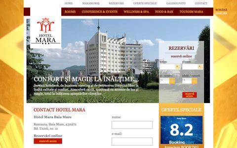 Screenshot of Contact Page hotelmara.ro - CONTACT - captured Nov. 13, 2016