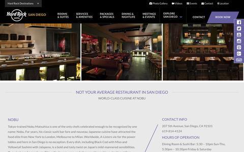 Nobu San Diego | Restaurant & Bar | Hard Rock Hotel San Diego