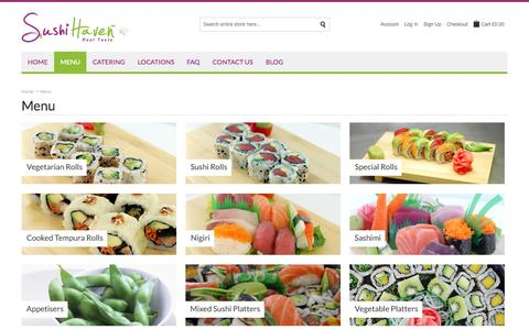 Screenshot of Menu Page sushihaven.co.uk - Sushi Haven |  Menu - captured Sept. 30, 2014