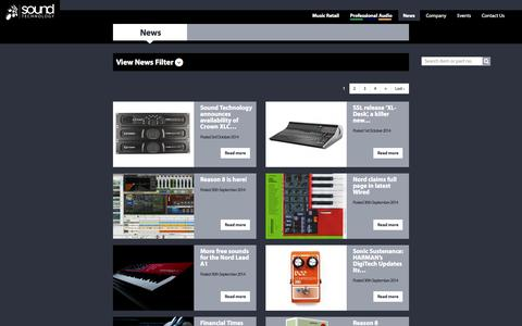 Screenshot of Press Page soundtech.co.uk - News | Sound Technology Ltd - captured Oct. 7, 2014