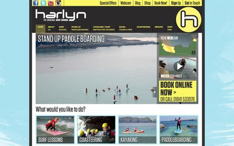 Screenshot of Home Page Signup Page harlynsurfschool.co.uk - Harlyn Surf School in Cornwall - captured Sept. 26, 2014