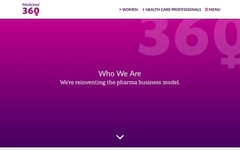 Screenshot of About Page medicines360.org - Who We Are – Medicines360 - captured July 27, 2018
