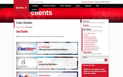 Screenshot of Case Studies Page boalt.com - Case Studies - BOALT - captured Oct. 4, 2014