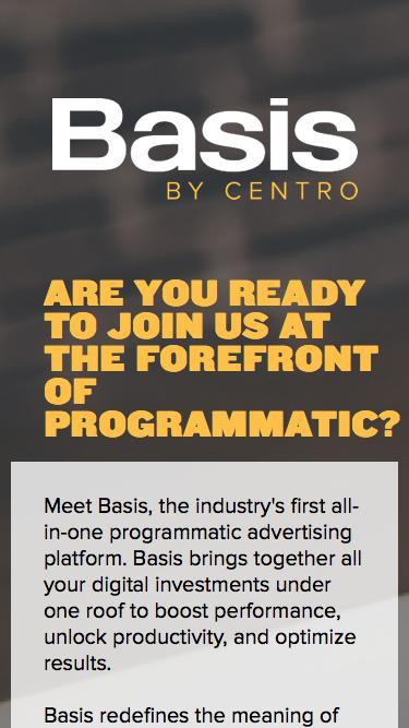 Basis by Centro | Integrated Digital Media Platform