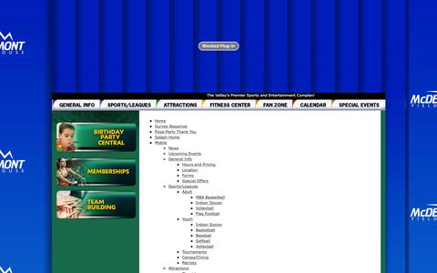 Screenshot of Site Map Page mcdermontfieldhouse.com - mcdermontfieldhouse.com: Site Map - captured Jan. 9, 2016