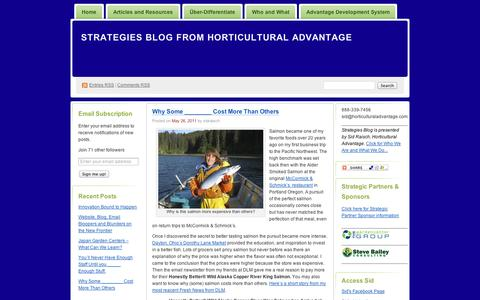 Screenshot of Pricing Page wordpress.com - Pricing | Strategies Blog from Horticultural Advantage - captured Sept. 12, 2014