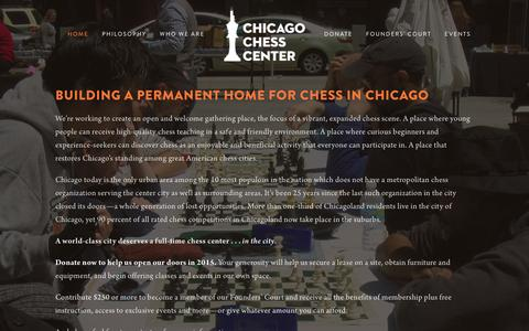 Screenshot of Home Page chichess.org - Chicago Chess Center - captured Jan. 27, 2016