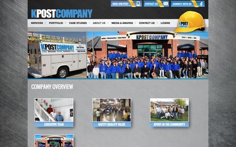 Screenshot of About Page kpostcompany.com - Company Overview | KPOST COMPANY - captured Sept. 30, 2014