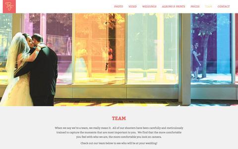 Screenshot of Team Page rfweddings.ca - - Team | | RF Weddings - captured Aug. 13, 2016