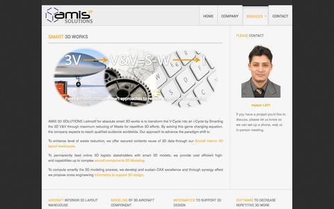 Screenshot of Services Page amis3dsolutions.com - Amis 3D Solutions - Services - captured Oct. 4, 2014