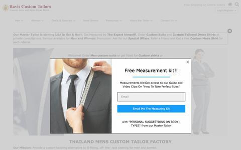 Screenshot of About Page ravistailor.com - Online Custom Suits for Men and Women | Ravis Custom Tailor - captured Oct. 19, 2017