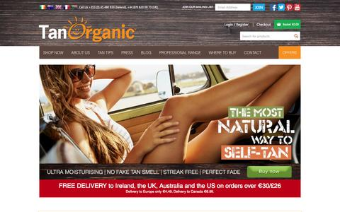 Screenshot of Home Page tanorganic.com - Fake Tan, Organic Fake Tan By Irelands Tanning Specialist - TanOrganicTanOrganic | The World's First ECO Certified Self Tanning Brand - captured Oct. 18, 2015