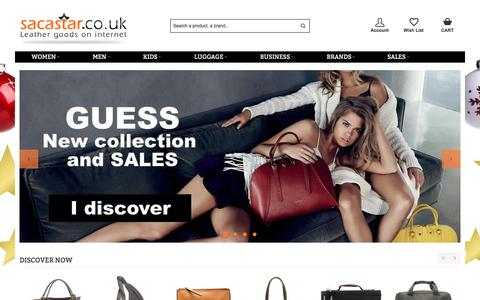 Screenshot of Home Page sacastar.co.uk - HANDBAGS 120 BRANDS - SACASTAR.CO.UK - captured Dec. 22, 2017