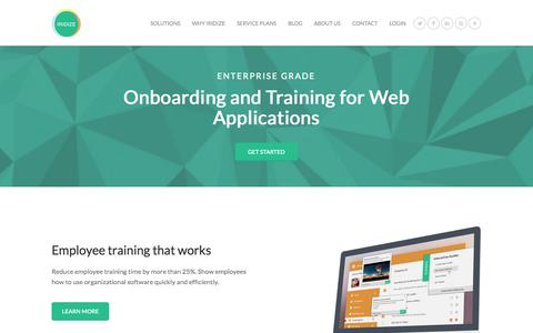 Screenshot of Home Page iridize.com - Your Onboarding and Training Solution - Iridize - captured Sept. 7, 2015