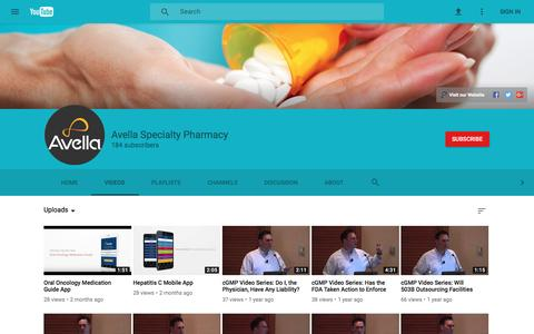 Avella Specialty Pharmacy - YouTube