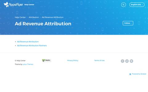 Ad Revenue Attribution – Help Center