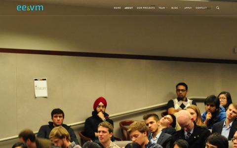 Screenshot of About Page eevm.org - About | Emory Entrepreneurship & Venture Management - captured Oct. 2, 2014