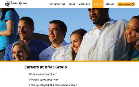Screenshot of Jobs Page briar-group.com - Careers at Briar Group | The Briar Group - captured Feb. 15, 2016