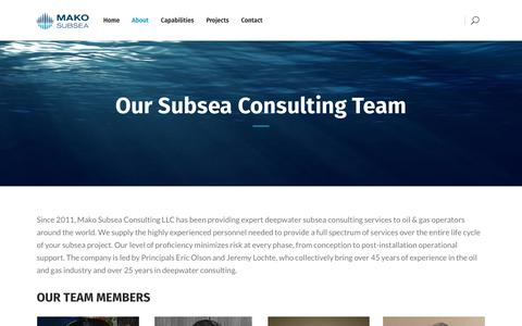 Screenshot of Team Page makoss.com - Subsea Consulting Team | MAKO SUBSEA - captured Sept. 29, 2017