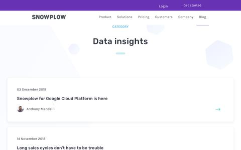 Screenshot of Blog snowplowanalytics.com - Blog – Data Insights - page 3 - captured Feb. 10, 2020