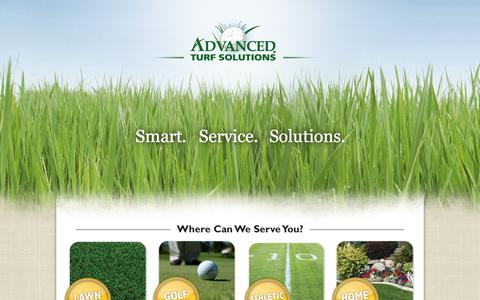 Screenshot of Home Page advancedturf.com - Lawn Care | Advanced Turf Solutions, Inc. - captured Sept. 12, 2015