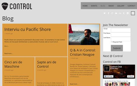 Screenshot of Blog control-club.ro - Blog   Control Club - the alternative - captured Dec. 12, 2015