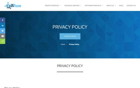 Screenshot of Privacy Page infusemed.com - Privacy Policy - Digital Agency Medical Device Marketing - Infuse Medical - captured Oct. 12, 2018