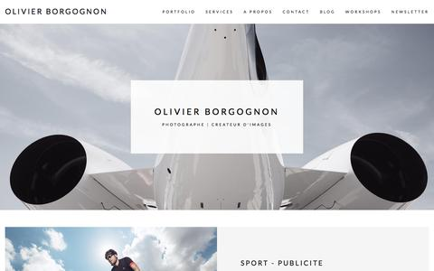 Screenshot of Services Page olivierborgognon.com - Services - olivier borgognon - captured July 7, 2018