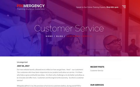 Screenshot of Support Page premergency.com - Customer Service - Premergency - captured Sept. 29, 2018
