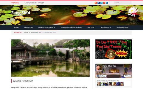 Screenshot of FAQ Page fengshui.com.au - What is Feng Shui? - captured Jan. 31, 2018