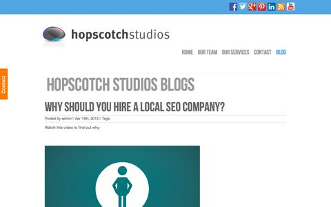 Screenshot of Blog hopscotchstudios.co.uk - Blog | Hopscotch Studios Ltd. - captured July 22, 2018