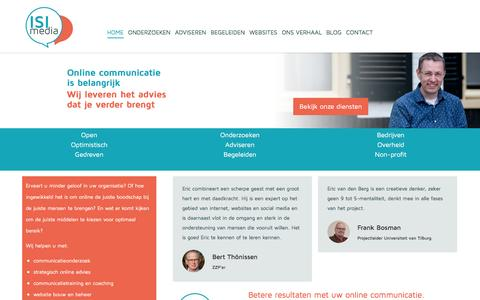 Screenshot of Home Page isimedia.nl - ISI Media – online communicatie advies van Eric van den Berg - captured Feb. 4, 2016