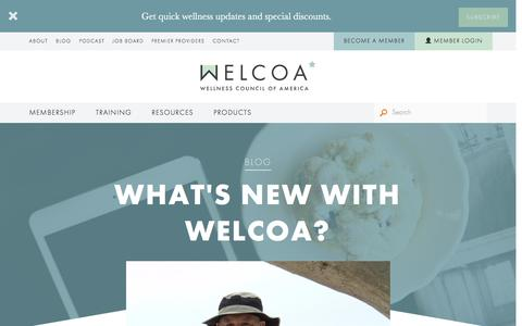Screenshot of Blog welcoa.org - Blog - WELCOA - captured Nov. 27, 2016