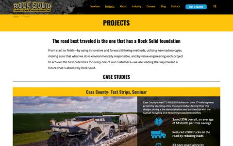 Screenshot of Case Studies Page rocksolidstabilization.com - Projects | Rock Solid Stabilization & Reclamation - captured Oct. 18, 2018