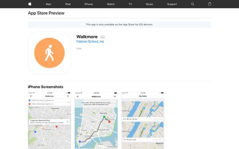 Walkmore on the AppStore